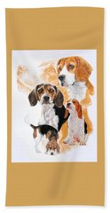 Beagle Hound Medley Beach Towel