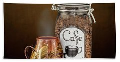 Beans To Cup Beach Towel by Shirley Mangini