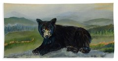 Bear Alone On Blue Ridge Mountain Beach Towel