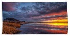 Bear Butte Lake Sunrise Beach Towel