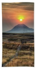 Bear Butte Smoke Beach Towel