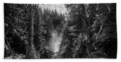 Bear Creek Falls As Well Beach Towel