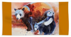 Bear Family Outing Beach Towel