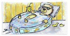 Bear Float Beach Towel by Debra Baldwin