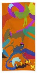 Beach Towel featuring the painting Bear  by Go Van Kampen