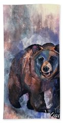 Bear In Color Beach Towel