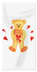 Bear In Love Beach Sheet