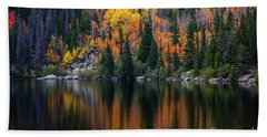 Bear Lake Autumn Reflections Beach Towel