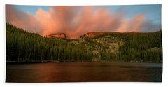 Beach Towel featuring the photograph Bear Lake's Hallett Peak #1 by John Gilbert