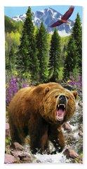 Bear Necessities Iv Beach Towel