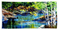 Beach Sheet featuring the painting Bear Paw Stream by Hanne Lore Koehler