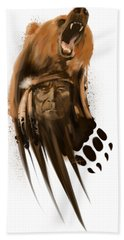 Bear Spirit  Beach Towel by Sassan Filsoof
