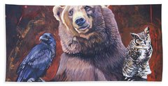 Bear The Arbitrator Beach Towel
