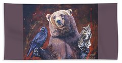 Bear The Arbitrator Beach Towel