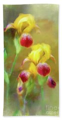Bearded Iris Pair Beach Towel