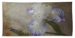 Bearded Iris 'gnuz Spread' Beach Towel