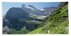 Beargrass - Grinnell Glacier Trail - Glacier National Park Beach Towel