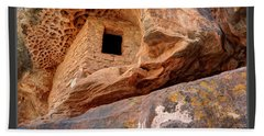 Bears Ears National Monument - Anasazi Ruin Beach Sheet by Gary Whitton