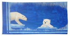 Bears In Global Warming Beach Towel