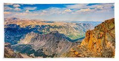 Beach Towel featuring the photograph Beartooth Highway Scenic View by John M Bailey