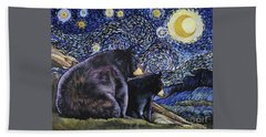 Beary Starry Nights Too Beach Sheet