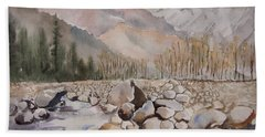 Beas River Manali Beach Towel