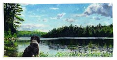 Beasley On Black Pond Beach Towel