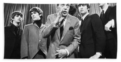 Beatles And Ed Sullivan Beach Towel