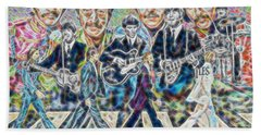 Beatles Tapestry Beach Sheet by Dave Luebbert