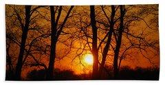 Beauatiful Red Sunset Beach Sheet