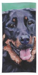 Beauceron Portrait Beach Towel