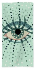 Beautiful Abstract Dotted Blue Eye Beach Towel