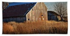 Beautiful Barn In Autumn  Beach Towel
