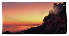 Beautiful Bass Harbor Lighthouse Beach Towel