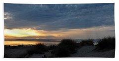 Beautiful Beach San Dunes Sunset And Clouds Beach Towel