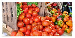 The Bountiful Harvest At The Farmer's Market Beach Sheet