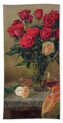 Beautiful Bouquet Of Roses Beach Towel