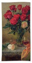 Beautiful Bouquet Of Roses Beach Sheet