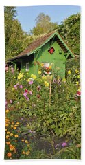 Beautiful Colorful Flower Garden Beach Towel