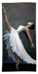 Beach Towel featuring the painting Beautiful Dancer by Janet King