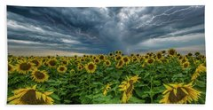 Beach Towel featuring the photograph Beautiful Disaster  by Aaron J Groen