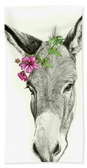 Beautiful Donkey Beach Towel