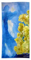 Beach Towel featuring the painting Beautiful Dreamer by Sandy McIntire