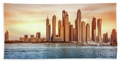 Beautiful Dubai Cityscape Beach Sheet