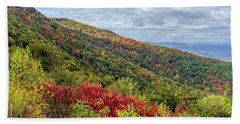 Beach Towel featuring the photograph Beautiful Fall Foliage In The Blue Ridge Mountains by Lori Coleman