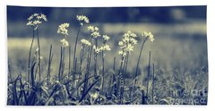 Beautiful Gentle Wildflowers Beach Sheet