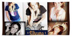 Beautiful Images Of Hot Photo Model Beach Sheet by Silvana Vienne