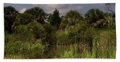 Beautiful Landscape Of Trees Beach Towel