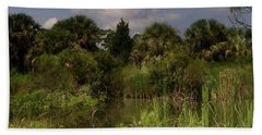 Beautiful Landscape Of Trees Beach Towel