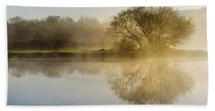 Beach Sheet featuring the photograph Beautiful Misty River Sunrise by Christina Rollo
